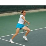 Tennis on court photos