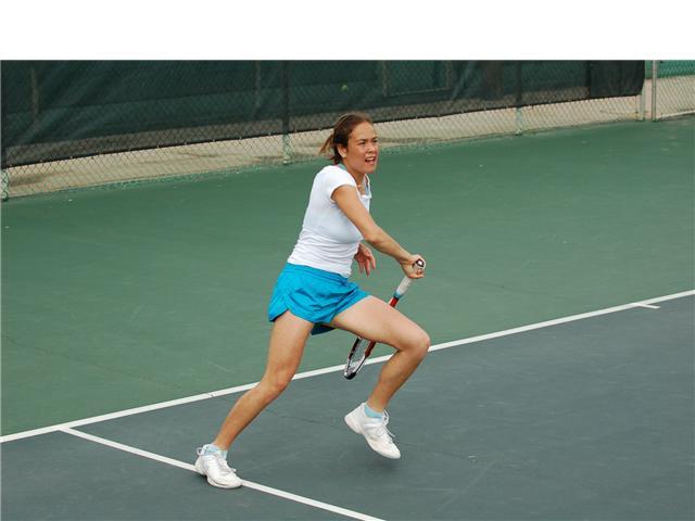 Tennis on court photos